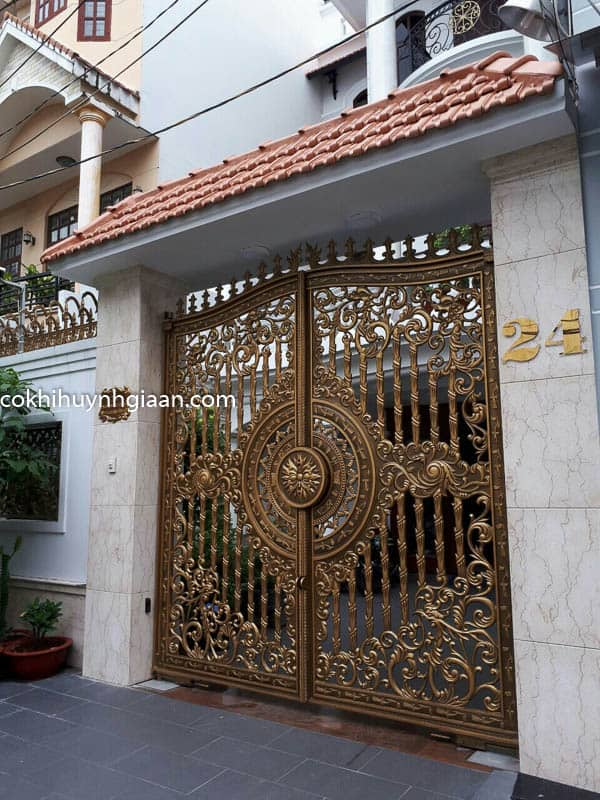 cổng biệt thự hiện đại