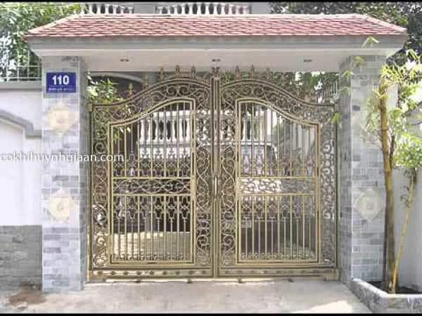 cổng biệt thự đẹp 2017