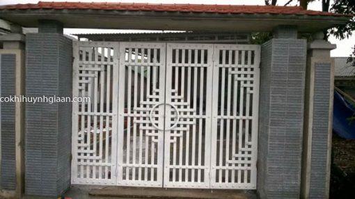 cổng sắt đẹp đơn giản