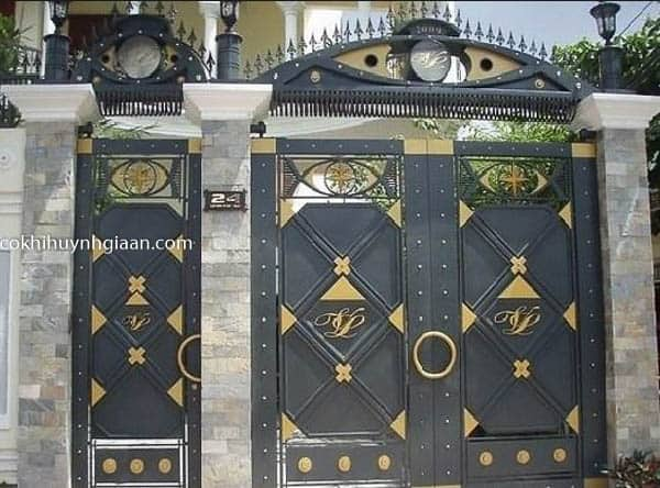 cửa cổng sắt đẹp tphcm