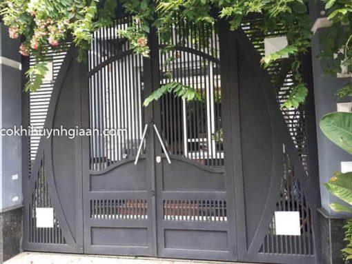 cổng sắt 4 cánh đẹp