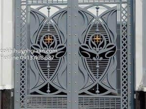cổng sắt mỹ thuật đẹp mới nhất
