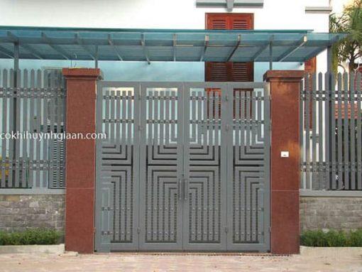cửa cổng 4 cánh đơn giản