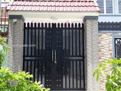 cửa cổng 2 cánh đẹp đơn giản