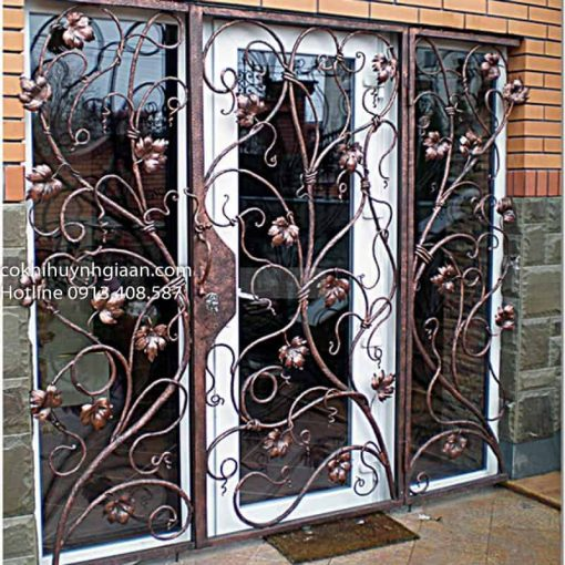 cửa sắt uốn đẹp