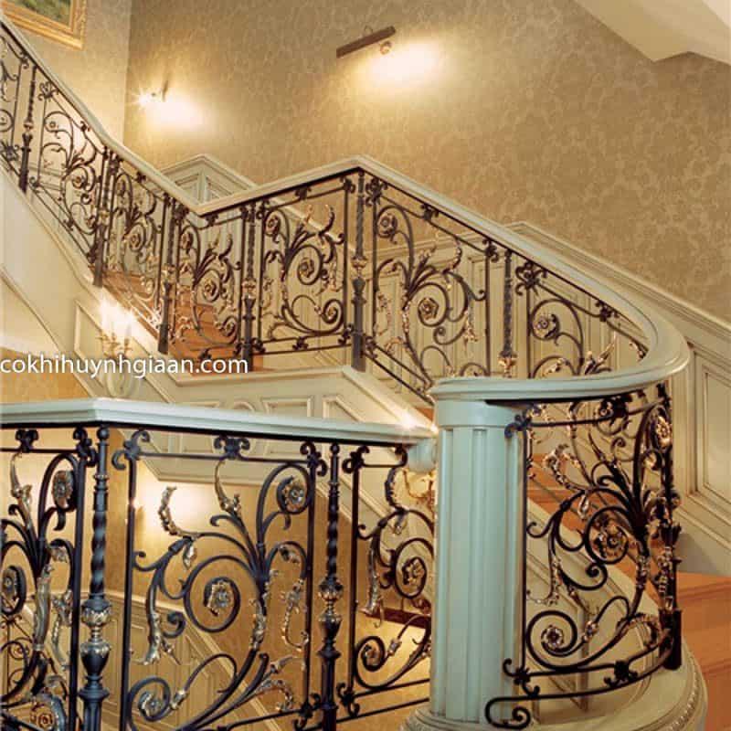 mẫu cầu thang biệt thự đẹp