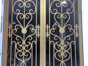 mẫu cửa cổng sắt uốn đẹp