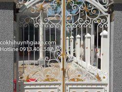 cửa cổng đẹp 2 cánh