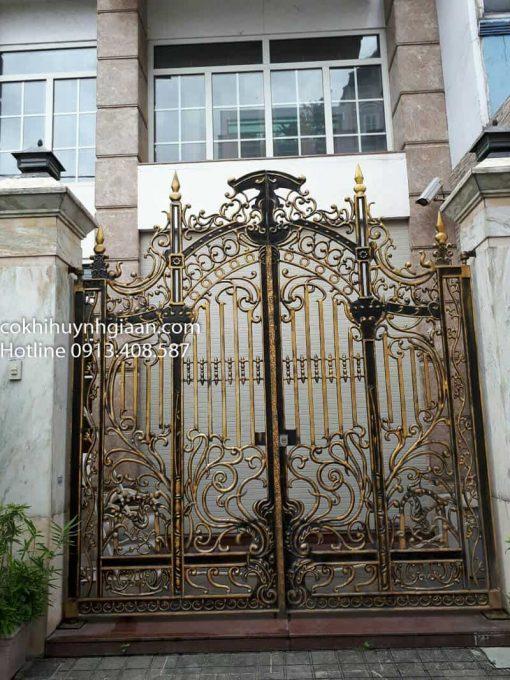 cổng uốn mỹ thuật đẹp