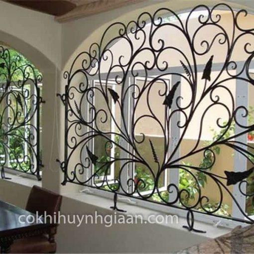 khung cửa sổ sắt uốn đẹp