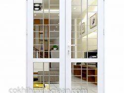 cửa đi 2 cánh đẹp đơn giản
