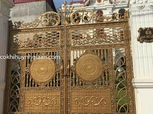 cổng nhôm đúc đẹp