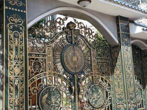 cổng nhôm đúc hcm