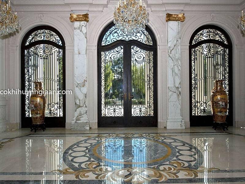 Cửa sắt kính đẹp cho biệt thự