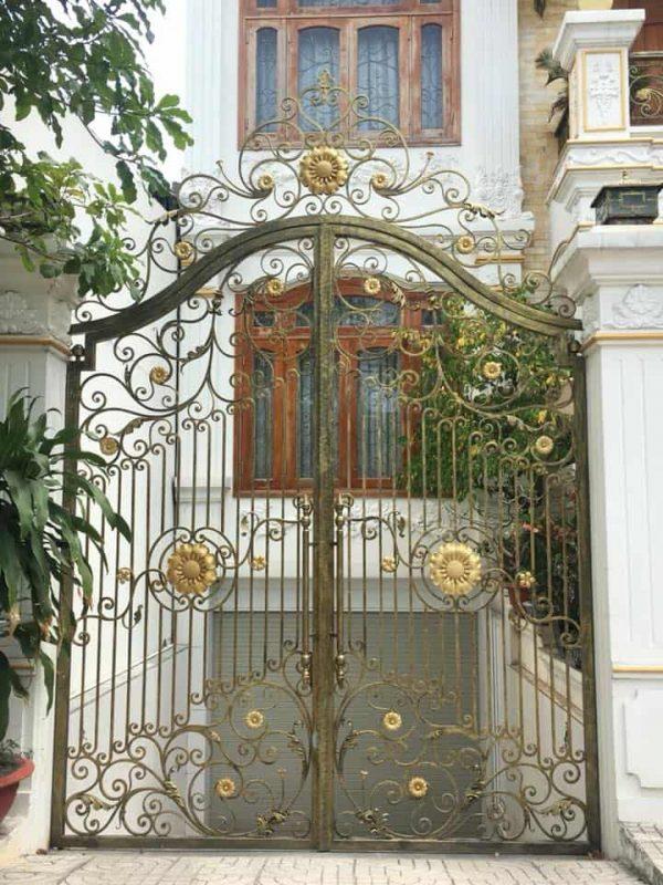 Cổng nhà đẹp đơn giản