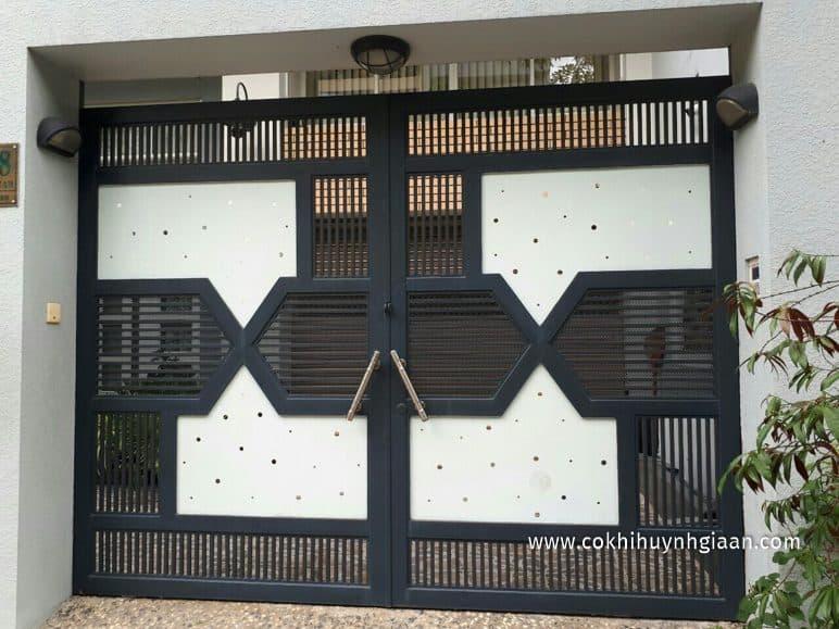 Cổng cửa sắt 2 cánh đẹp