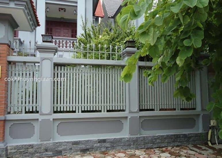 Hàng rào sắt pano đẹp 09