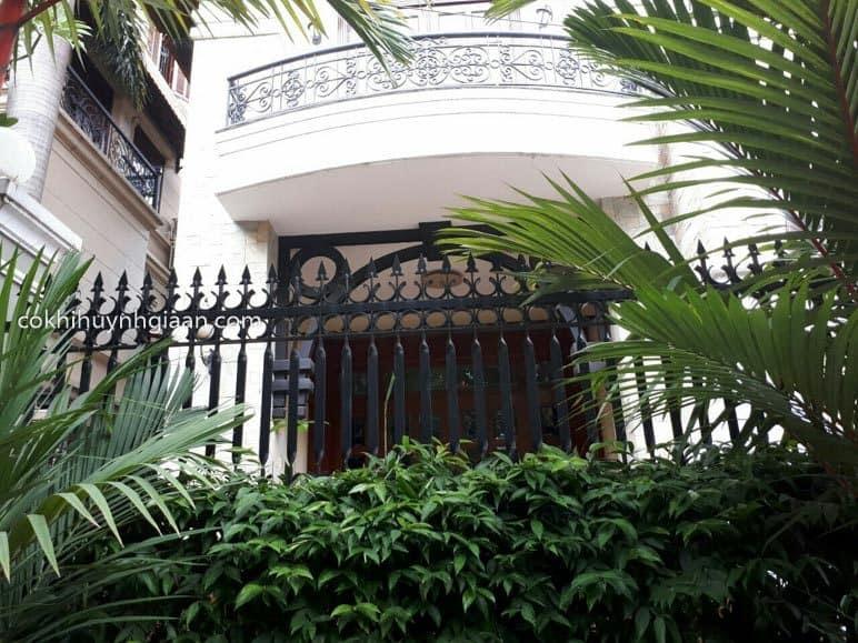 Hàng rào sắt nhà 3 tầng