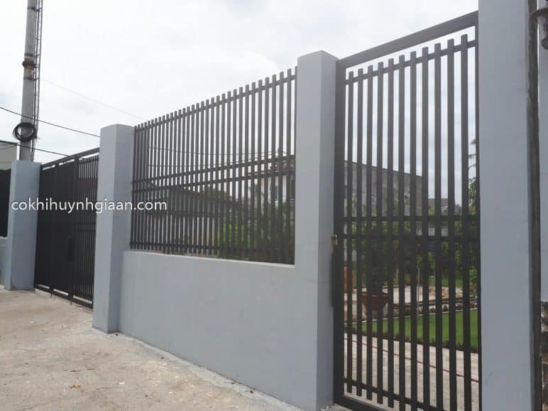 Hàng rào sắt pano đẹp