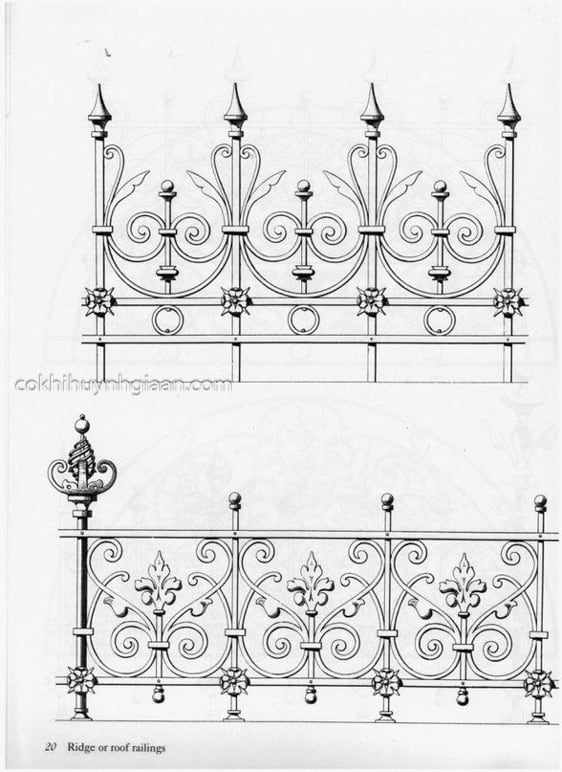 Bản phát thảo hình ảnh hàng rào sắt