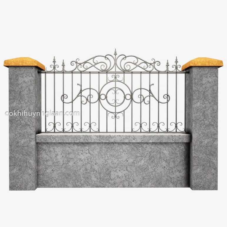 Hình ảnh hàng rào sắt 3D