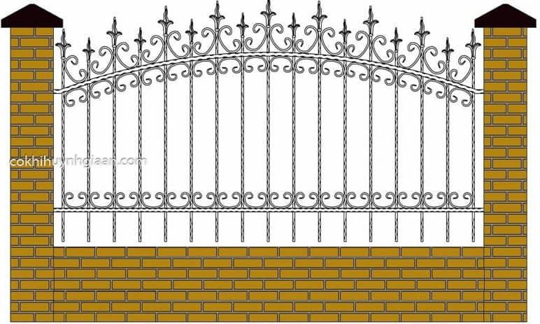 Hình ảnh render bằng phần mềm thiết kế hàng rào 2D