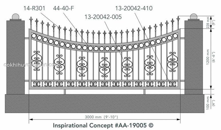 File thiết kế hàng rào sắt biệt thự