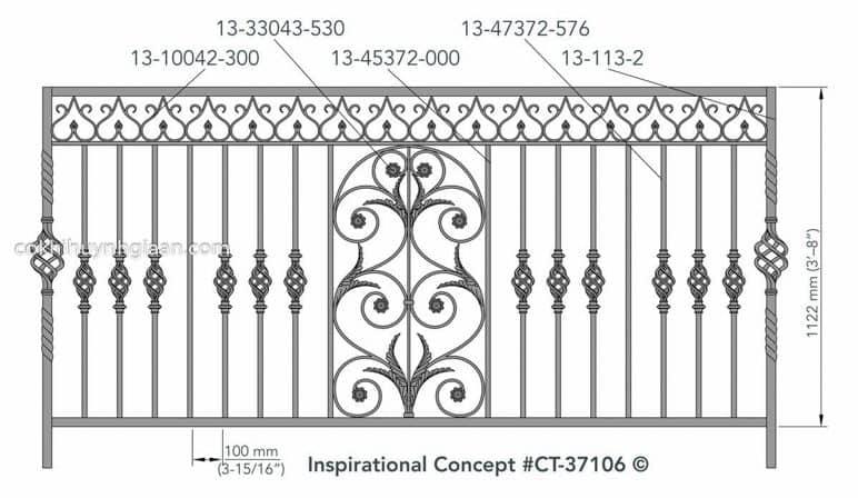 Hình ảnh hàng rào sắt 2D
