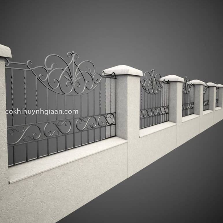 Hình ảnh render bằng phần mềm thiết kế hàng rào 3D