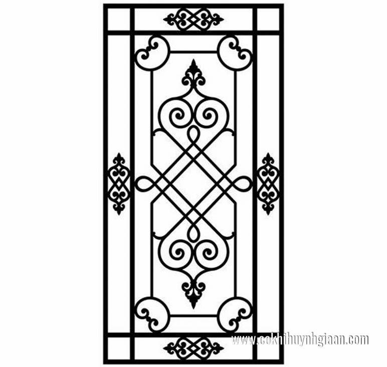 thiết kế mẫu hoa sắt cửa sổ đẹp