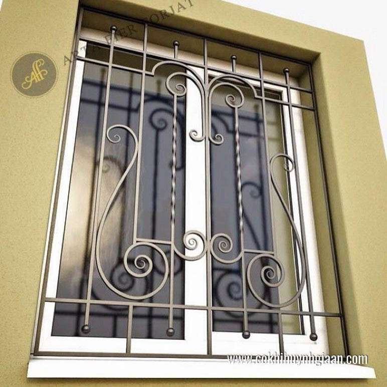 Mẫu cửa sổ sắt uốn đẹp