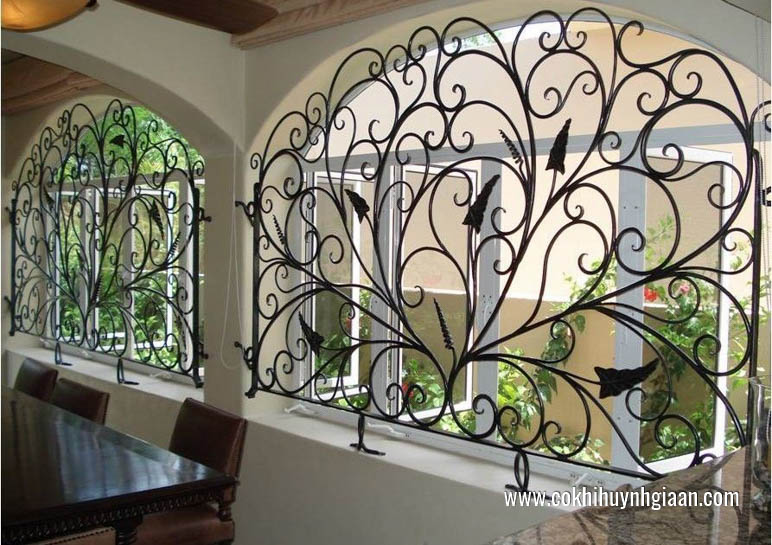 Hình ảnhmẫu hoa sắt cửa sổ đẹp tinh tế