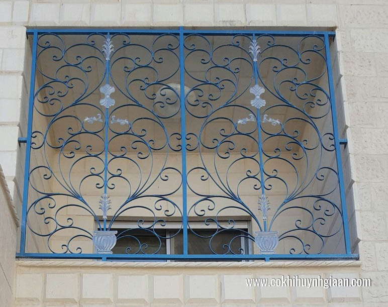 Mẫu song sắt cửa sổ đơn giản ấn tượng