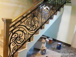 Cầu thang sắt nghệ thuật CT1153