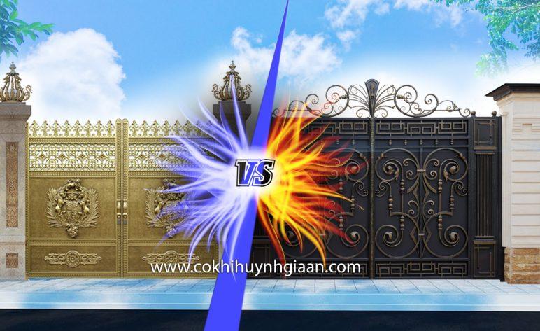 Cổng Nhôm Đúc vs Sắt Mỹ Thuật