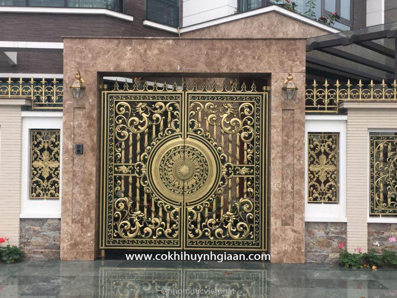 Cổng nhôm đúc mỹ nghệ CND1014