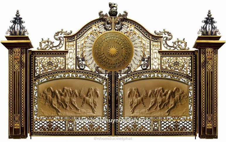 Cổng nhôm đúc mỹ nghệ CND1016