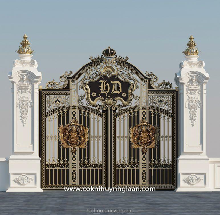 Cổng nhôm đúc mỹ nghệ CND1017