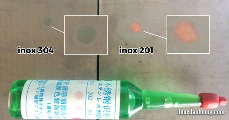 cách phân biệt inox 304 với inox 201/430/410