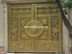 Cổng nhôm đúc mỹ nghệ CND1023