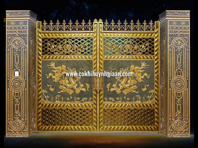 Cổng nhôm đúc mỹ nghệ CND1025