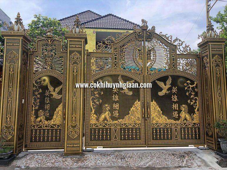Cổng nhôm đúc mỹ nghệ CND1026