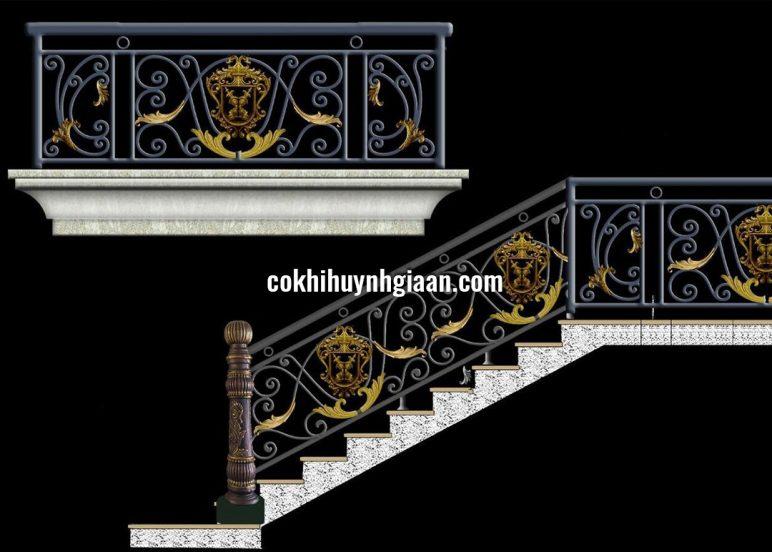 Mẫu Cầu Thang Sắt CT1168