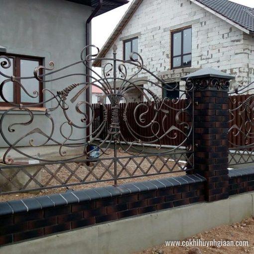 Hàng rào sắt mỹ thuật HR1025