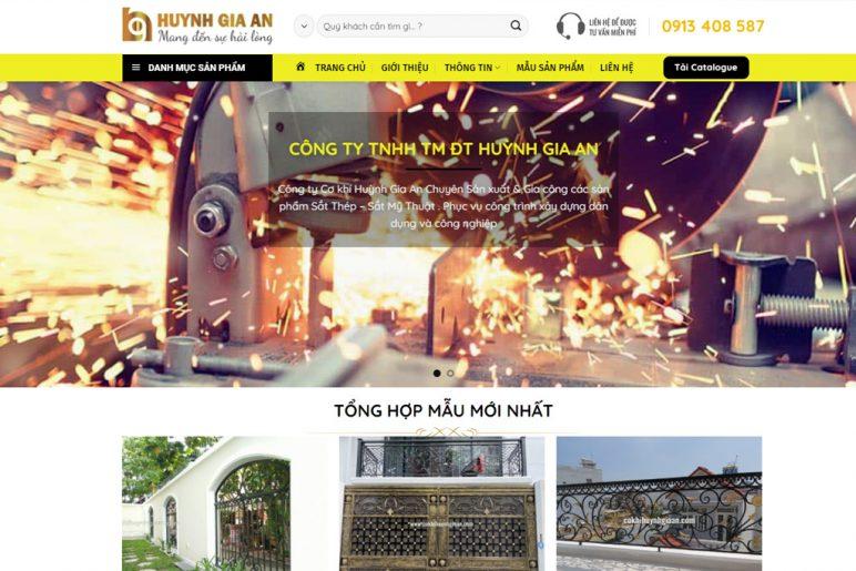 Hướng dẫn sử dụng websiteHướng dẫn sử dụng website Cơ khí Huỳnh Gia An